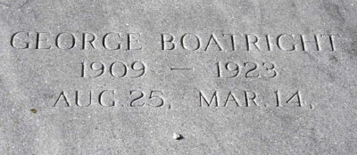 George T. Boatright Gravestone