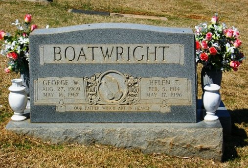 George Wesley and Helen T. Boatwright Gravestone