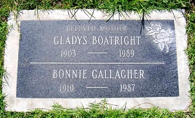 Gladys Beatrice Wilson Boatright Marker
