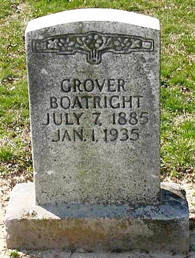 Grover Edwin Boatright Gravestone