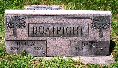 Harley and Geneva Madge Stringer Boatright Gravestone:
