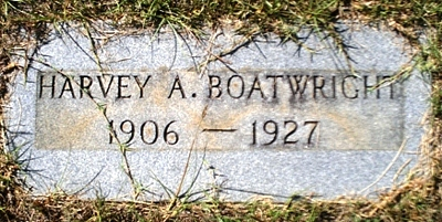 Harvey A. Boatwright Gravestone