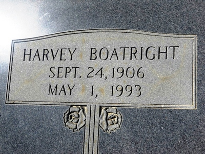 Harvey Drawdy Boatright Gravestone