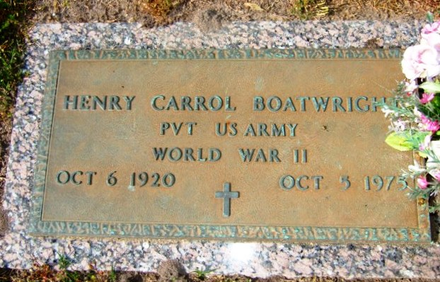 Henry Carrol Boatwright Gravestone