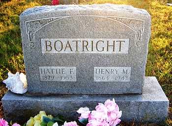 Henry Miles and Hattie Florence Williams Boatright Gravestone: