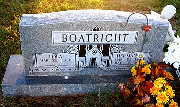Herman Manson Boatright Gravestone