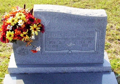 Holley Boatwright Gravestone