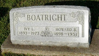 Howard Bert Boatright Gravestone