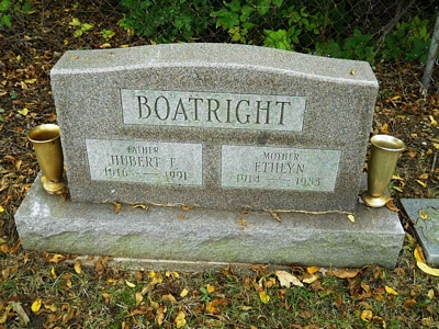 Hubert F. and Evelyn Boatright Gravestone: