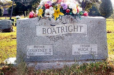 Hugh Franklin and Courtney Jones Boatright Gravestone: