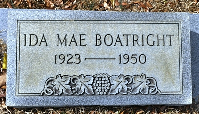 Ida Mae Rich Boatright Gravestone