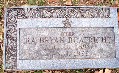 Ira Bryan Boatright Gravestone