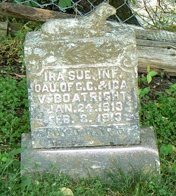 Ira Sue Boatright Gravestone