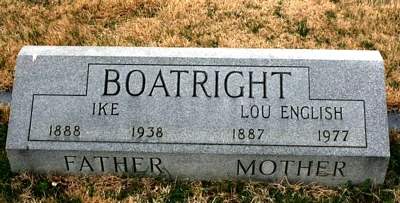 Isaac W. Ike and Mary Lucinda English Boatright Gravestone
