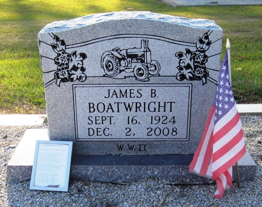 James Burness Boatwright Gravestone