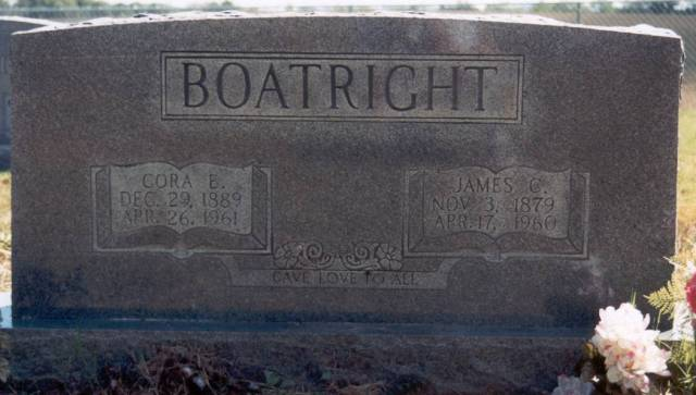 James Cephus Boatright and Cora Ethel Byrd Gravestone