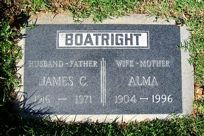 James Clarence and Alma Robertson Boatright Marker