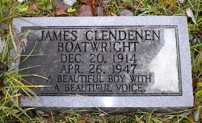 James Clendenen Boatwright Gravestone