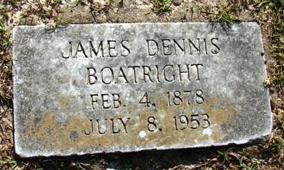 James Dennis Boatright Gravestone