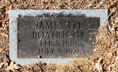 James Lee Boatright Gravestone