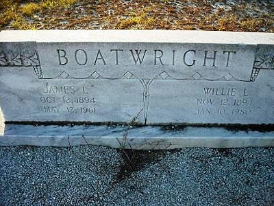 James Louis and Willie Lee Smith Boatwright Gravestone