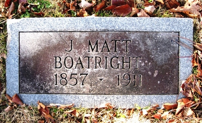 James Matthew Boatright Gravestone