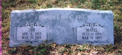 James S. and Mable Childress Boatright Gravestone