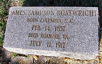 James Sampson Boatwright Gravestone