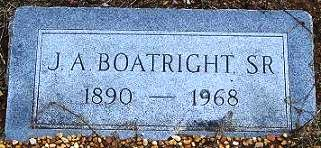 Jesse Albert Boatright Gravestone