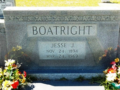 Jesse James Boatright Gravestone