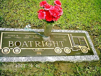 John Bernard and Doris M. Boatright Gravestone
