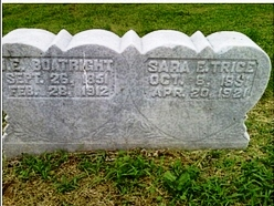John E. and Sarah E. Trice Boatright Gravestone