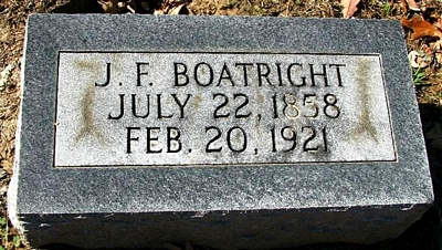 John Franklin Boatright Marker