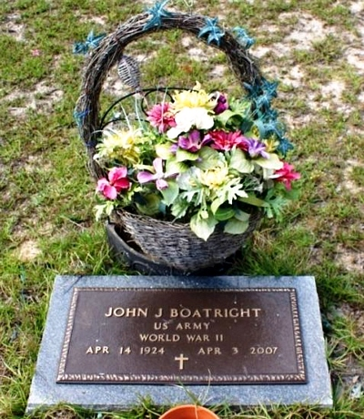 John J. Boatright Gravestone