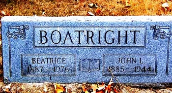 John Leroy and Beatrice Boatright Gravestone