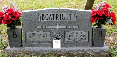 John L. and Goldie E. Cox Boatright Gravestone