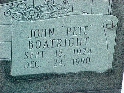John Paul Boatright Gravestone