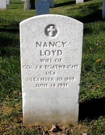Nancy Loyd Boatwright Gravestone