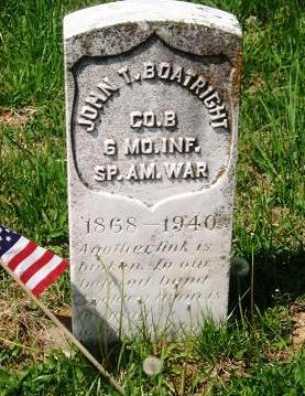 John T. Boatright Gravestone