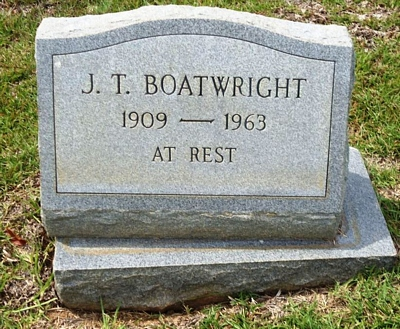 John Thomas Boatwright Gravestone