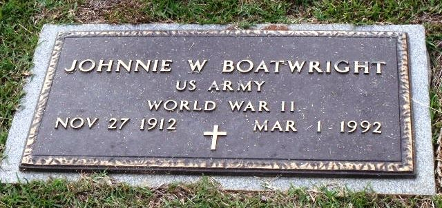 John William Boatwright Gravestone