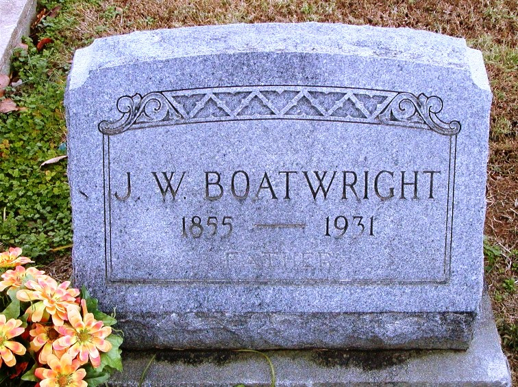 John Willis Boatwright Gravestone