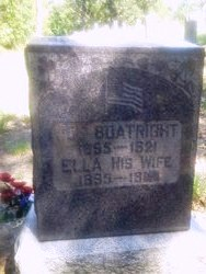 Joseph L. and Ella Stilley Boatright Gravestone