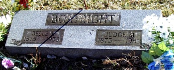 Judge Melvin and Belle Livingston Boatright Gravestone