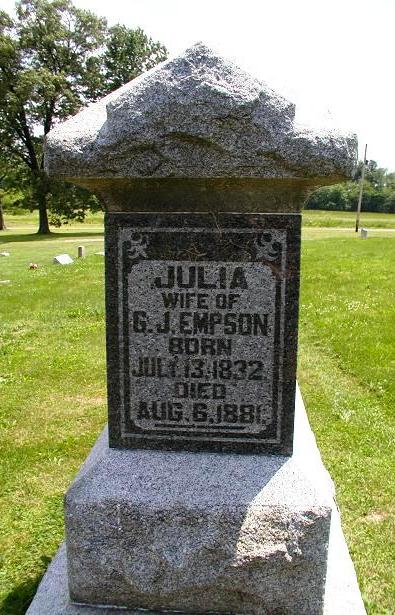 Julia Boatright and Gregory Jackson Empson Gravestone