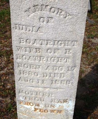 Julia Ann Sconyers Boatright Gravestone