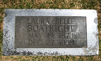 Laura Belle Golay Boatright Marker