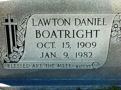 Lawton Daniel Boatright Gravestone