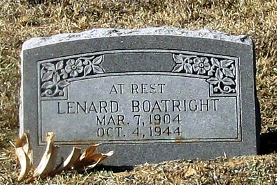 Lenard Boatright Gravestone