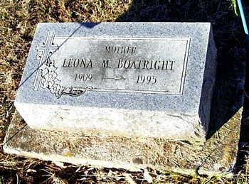 Leona M. Boatright Gravestone